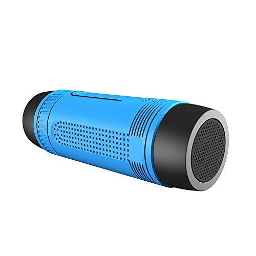 Multifuctional Speaker Hi Fi Flashlight Waterproof Radio Blue product image