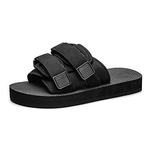 Fereshte Womens Herenmode Instapper Sportieve Sandalen Antislip Strand Sandalen Voor Paar Zwart