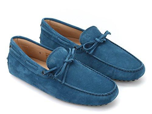 TODS HOMBRE XXM0GW05470RE0T603 AZUL GAMUZA MOCASÍN: Amazon.es: Zapatos y complementos