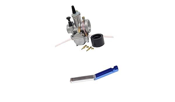 Sharplace Kit de Carburador con Herramienta de Limpieza para ATV UTV Moto Conexión 24mm: Amazon.es: Coche y moto
