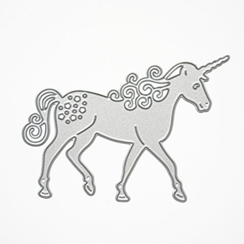 Unicorn Horse Metal Cutting Dies Stencil Mold Template Frame Album Paper Cards Embossing Scrapbooking Decorative Handmade Craft Art DIY Creative Scrapbook Party Decoration
