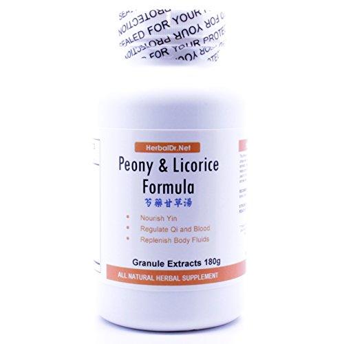 Wan Cao - Peony and Licorice Decoction Extract Powder Tea 180g (Shao Yao Gan Cao Tang) Ready-To-Drink 100% Natural Herbs