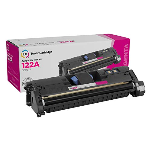 LD Remanufactured Toner Cartridge Replacement for HP 122A Q3963A (Magenta)