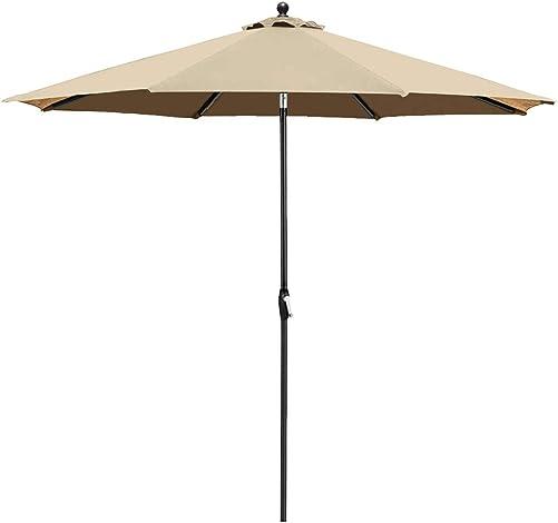 Balelinko 9 Feet Patio Sunbrella Umbrella Outdoor Market Table Umbrella