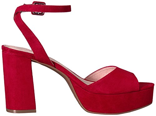 Lollipop Heeled Laundry Suede Chinese Red Theresa Black Women's Sandal wUAgaq