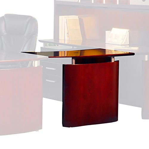 Mayline NBDGLCRY Napoli Left Hand Bridge for use with Credenza or Desk, sold separately, Sierra Cherry - Veneer Cherry Mayline
