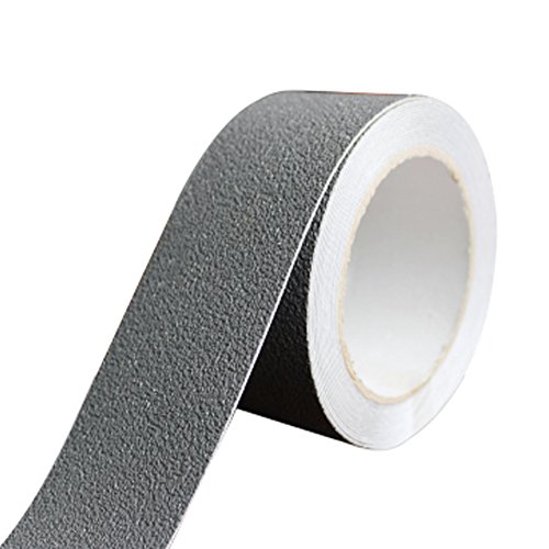 ROOS 1.96'' x 196.6'' Anti-Slip Safety Grit Resistent Tape for Stairs, Steps, Floor, Ceramic Tile and Other Surfaces (Width 5cm,Length 5m, Grey) by ROOS