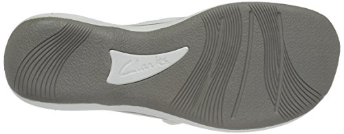 CLARKS Women's Breeze Sea Flip Flop, New White Synthetic, 9 M US by CLARKS (Image #10)