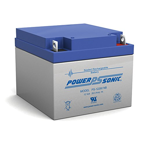 BATTERY POWER-SONIC 12V 26AH PS-12260 PS-12260NB EACH by Power-Sonic