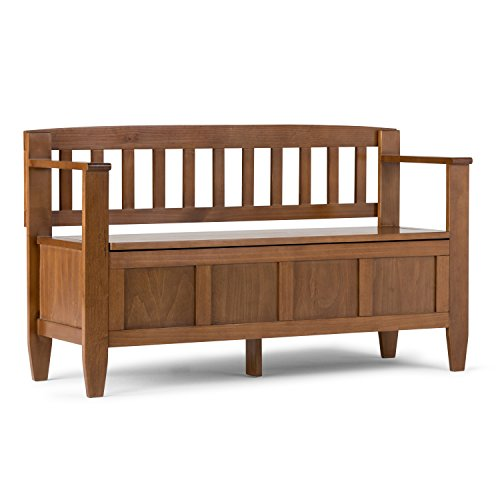 Simpli Home Brooklyn Solid Wood Entryway Storage Bench, for sale  Delivered anywhere in USA