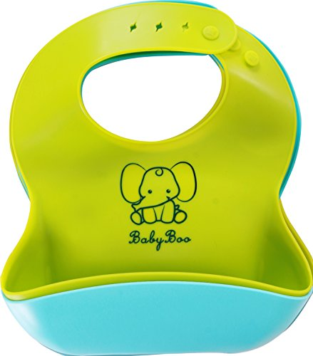 Silicone Baby Bib (Pack of 2) with Deep Pocke...