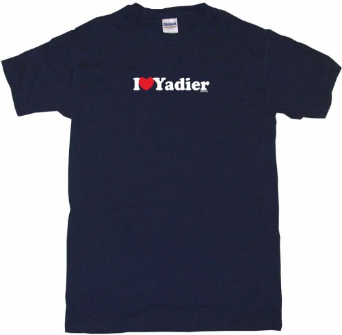 I Heart Love Yadier Women's Tee Shirt XL-Navy-Regular
