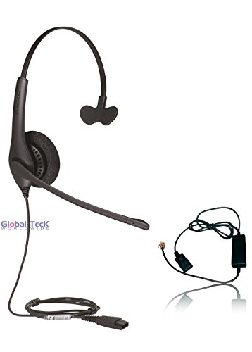Polycom Compatible Jabra BIZ 1520 Direct Connect Headset with Smart cord | SoundPoint Phones: IP450, IP50's, IP601, IP650, IP670, VVX300's, VVX400's, VVX500, VVX600, VVX1500, CX300, (Direct Connect Phone)