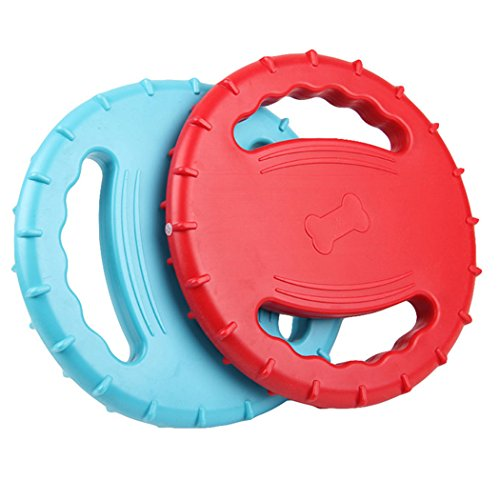 Jouets Grands Volant Toys Et Rouge Disque Chiens Chiots Moyens Bleu Jouet Chien Legendog Dog Formation Chien Petits Tpr Squeaky Floating Animaux Pour Meilleur De Matériel wPq7p1xX