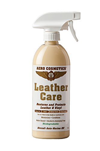 Leather Conditioner UV Protectant Aircraft Grade Leather Care 16oz better than automotive products. Excellent for Furniture cars seats & RV 's does not leave dirt attracting residue. by Aero Cosmetics