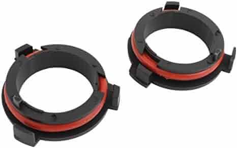 T02 SOCAL-LED 2x H7 LED Headlight Bulb Retainers Holder Adapter for Kia Hyundai