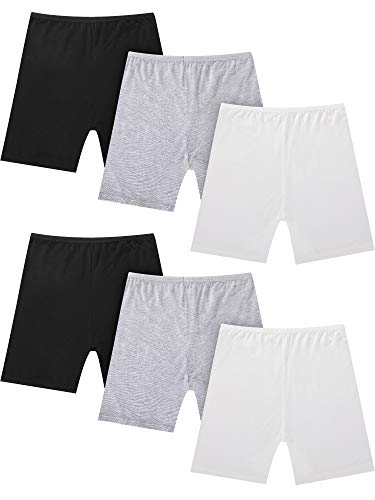 Short Kids Skirt - Sumind 6 Pieces Girl's Dance Bike Shorts Child Safety Shorts Stretch Under Skirt Shorts for Baby Kids Girls (Color Set 1, 4-5 Years Size)