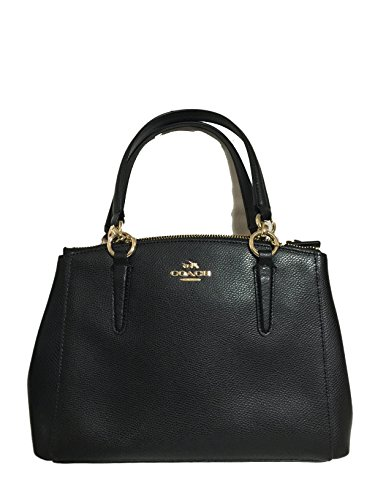 Coach F36704 Mini Christie Carryall in Crossgrain Leather Black by Coach