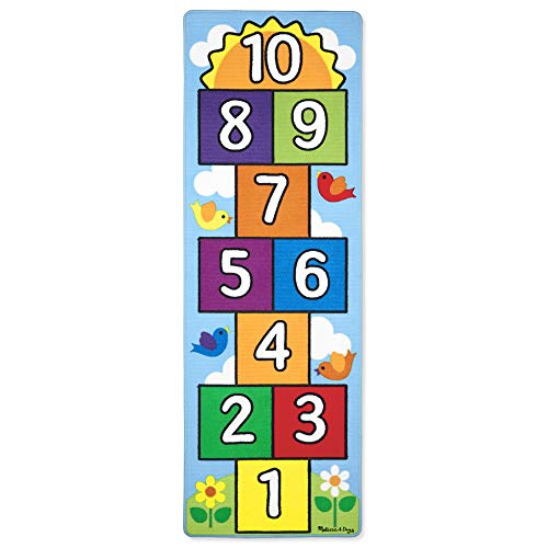Hopscotch Rugs are one of the best indoor toys for active kids to burn off some energy