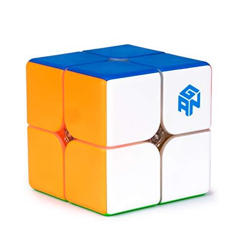 GAN 249 V2, 2x2 Speed Cube Gans Mini Cube Puzzle Toy(Stickerless)