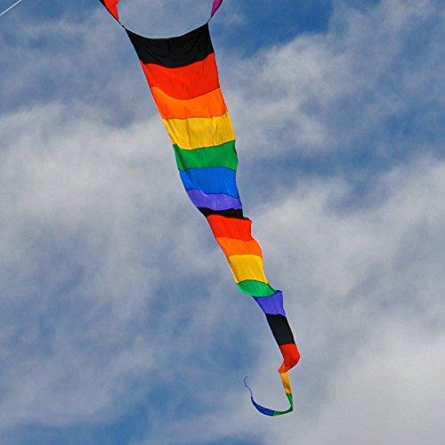 Rainbow Striped Streamer Tail