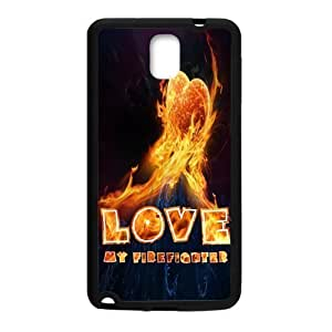 Zyhome Galaxy Note 3 Cool Fire Love My Firefighter Case Cover for Samsung Galaxy Note 3 (Laser Technology)