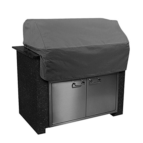 KHOMO GEAR - TITAN Series - Waterproof Heavy Duty Island BBQ Grill Cover - Grey - Medium 45