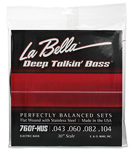 (LaBella 760F-MUS Stainless Steel Flat Wound Bass Strings, Custom )