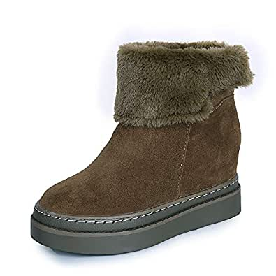 Amazon.com | LHJY Winter Snow Boots Cotton Boots Warm