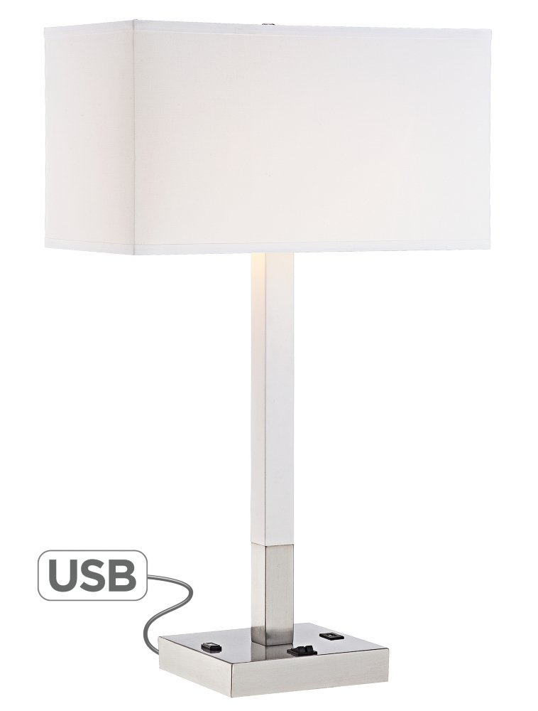 Bryce Metal Table Lamp With Usb Port And Utility Plug Amazon Com