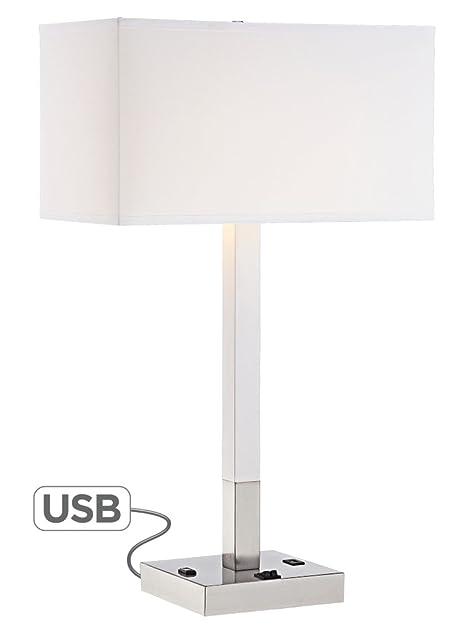 Bryce Metal Table Lamp with USB Port and Utility Plug - - Amazon.com