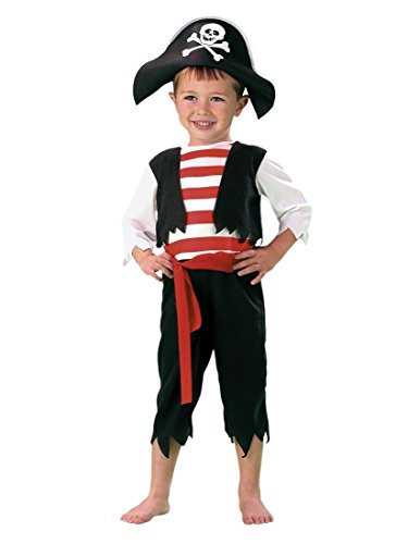 Toddler Boys Pint Size Pirate Costume with Hat 2T