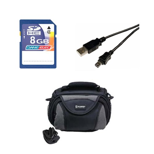 Canon Legria mini X Camcorder Accessory Kit includes: KSD48GB Memory Card, SDC-26 Case, USB5PIN USB Cable by Synergy Digital