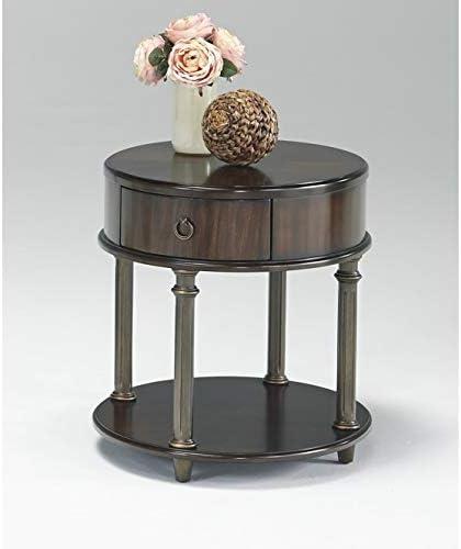 Progressive Furniture Regent Court Round Chairside Table, Cherry