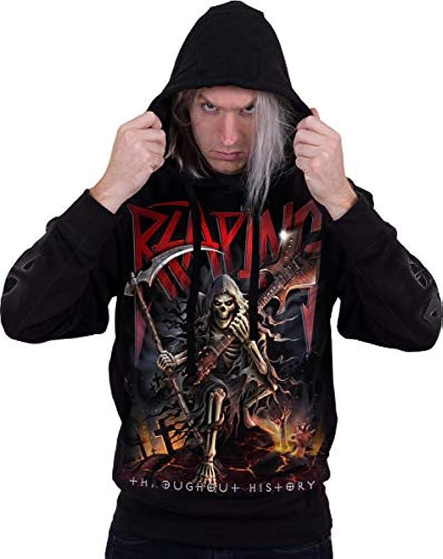 Spiral Reaping Tour męska bluza z kapturem, czarna, dla motocyklistÓw, Everyday Goth, Gothic, Horror, Rockwear, kolor: czarny , rozmiar: m: Odzież