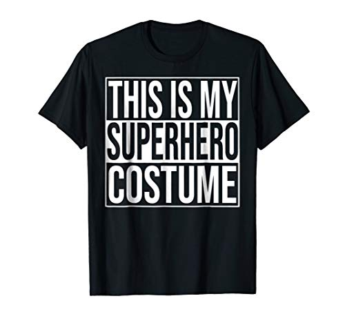 (Superhero Costume T-Shirt - Easy Cheap Halloween)