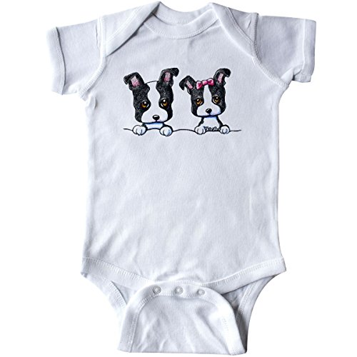 inktastic Boston Terriers (Dark Apparel) Infant Creeper - KiniArt