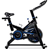Merax Deluxe Indoor Cycling Bike Cycle Trainer Exercise Bicycle (Blue)