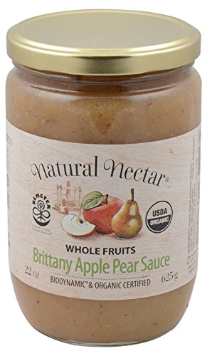 Natural Nectar Apple sauce Pear Biodynamic, 22 oz by Natural Nectar (Image #1)'