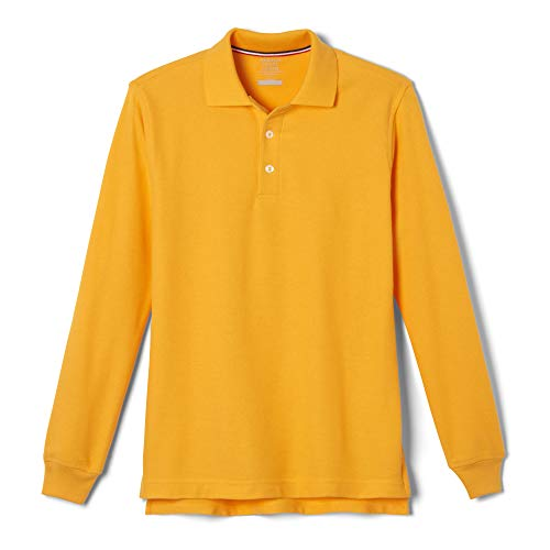 French Toast Little Boys' Long Sleeve Pique Polo, Gold, 2T