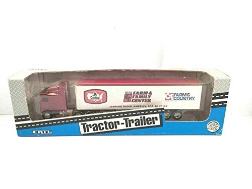 PHOENIX FINDS TREASURES ERTL Central Tractor Trailer Vintage Diecast Metal Farm Family Center Made USA