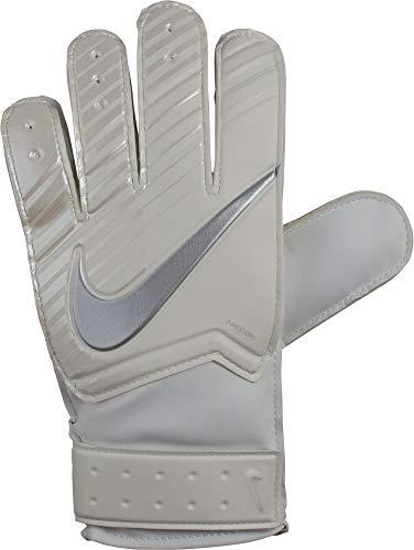 Nike Youth Goalkeeper Match Gloves White/Chrome Size 7 ()