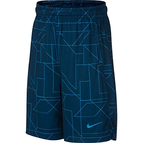 NIKE Boys 8-20 Dri-FIT GFX Legacy Shorts (Blue Force, Large)