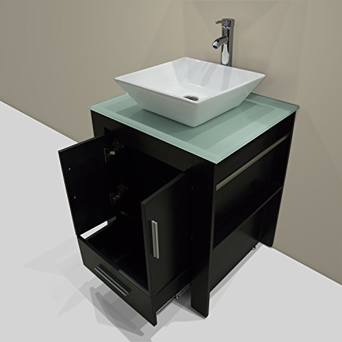 Walcut new 24 wood bathroom vanity cabinet ceramic sink for Bathroom cabinets philippines