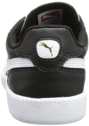 Puma Icra Unisex-Kinder Sneakers Schwarz (black-white-team gold 01)