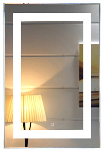 24X36 Inch Wall Mounted Led Lighted Bathroom Mirror with Touch Switch(GS099-2436) (24x36 - Bathroom Installation Mirrors