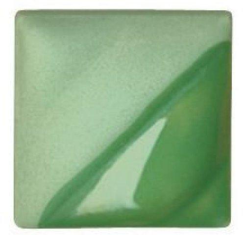 AMACO Velvet Lead-Free Non-Toxic Semi-Translucent Underglaze, 1 pt Jar, Light Green V-345 by AMACO