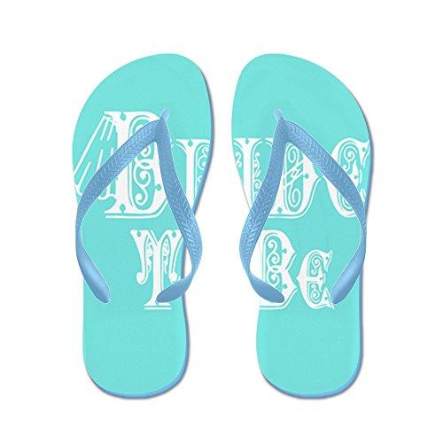 Cafepress Bruid Met Sluier, Fancy Wit Type Teal Flip - Flip Flops, Grappige String Sandalen, Strand Sandalen Caribbean Blue