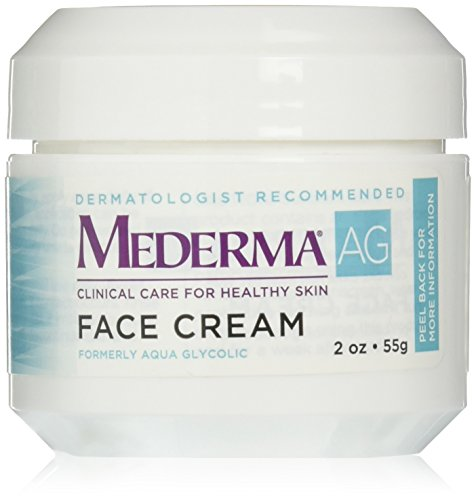 Mederma AG Moisturizing Face Cream - with hyaluronic acid for moisture and glycolic acid to gently remove rough, dry skin - dermatologist recommended brand - fragrance-free, hypoallergenic - 2 ounce Aqua Moisturizing Night Cream