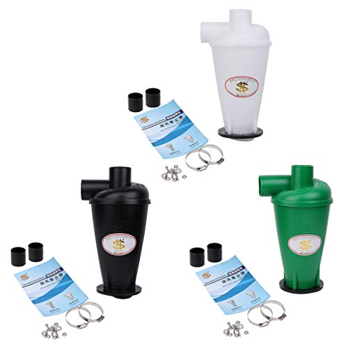 ZHENXI Cyclone Dust Collector Filter Turbocharged Cyclone With Flange Base Separator (Black) ()